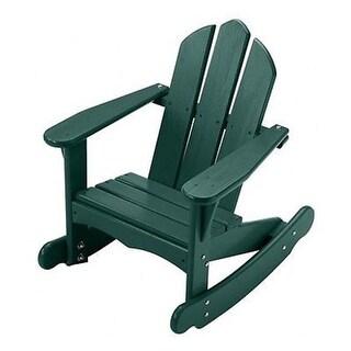 Little Colorado 141GRN Childs Adirondack Rocking Chair, Green