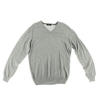 Zara Mens V-Neck Long Sleeves Pullover Sweater - XL