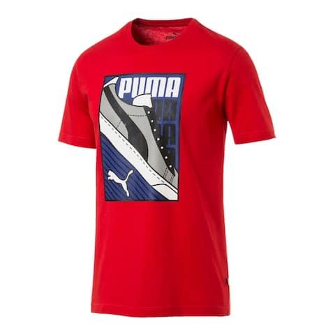 Puma Mens Sneaker Tee T-Shirt Graphic Short Sleeve - High Risk Red - L