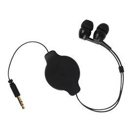 Pilot Automotive 3-feet Retractable Earbud 3.5-mm Jack Handsfree Earbuds Headphone