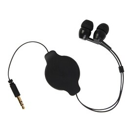 Pilot Automotive 3-feet Retractable Earbud 3.5-mm Jack Handsfree Earbuds Headphone