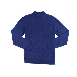 Club Room NEW Blue Mens Size Large L Knit Turtleneck Wool Sweater
