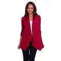 Simply Ravishing Women's Basic 3/4 Sleeve Open Cardigan (Size: Small-5X) - Thumbnail 10