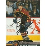 Tomi Kallio Atlanta Thrashers 2002 Pacific Autographed Card This item comes with a certificate of