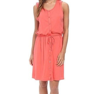 Three Dots NEW Pink Women's Size Large L Drawstring Shirt Dress