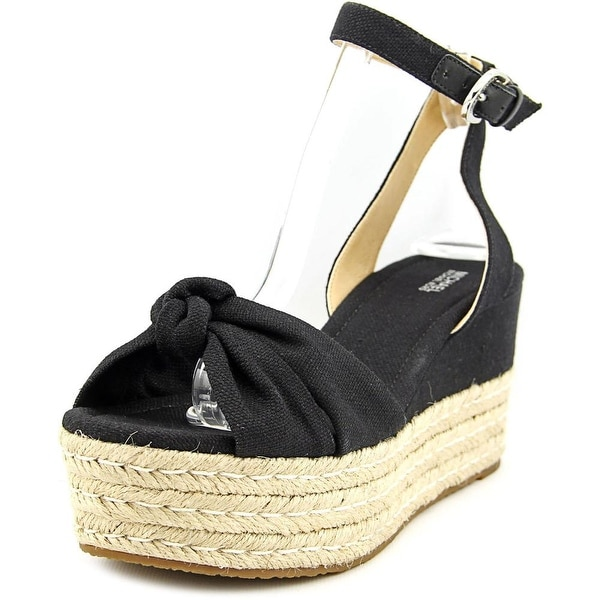 Michael Michael Kors Maxwell Mid Wedge Women  Open Toe Canvas  Wedge Sandal
