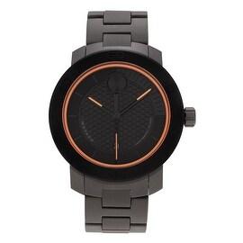Movado Men's 'Bold' 3600098 Matte Black Dial Bracelet Watch