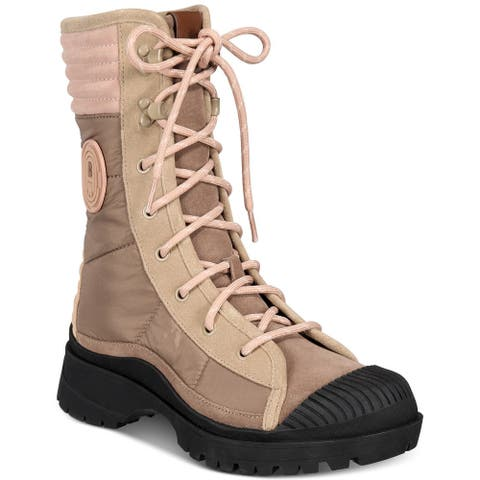 COACH Womens Sidney Lace-Up Booties