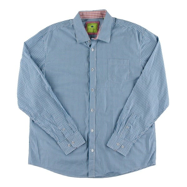 e4cf51f41ff Shop Park West Mens Button-Down Shirt Checkered Cuff Sleeve - Free Shipping  On Orders Over $45 - Overstock - 19501161