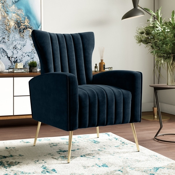 Gracewood Hollow Myrin Channel-Tufted Upholstered Arm Chair. Opens flyout.