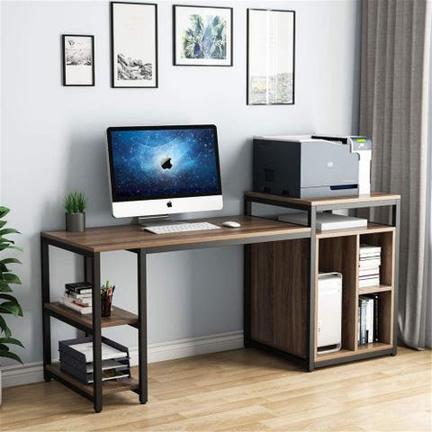 Computer Desk with Storage Shelf 47 Inch Printer Stand
