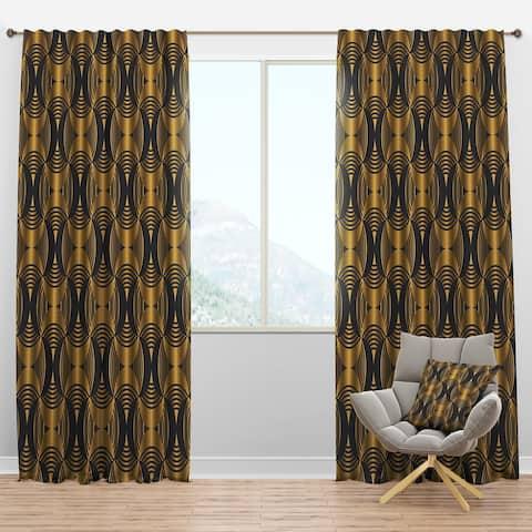 Designart 'Art Deco style modern pattern' Mid-Century Modern Blackout Curtain Panel
