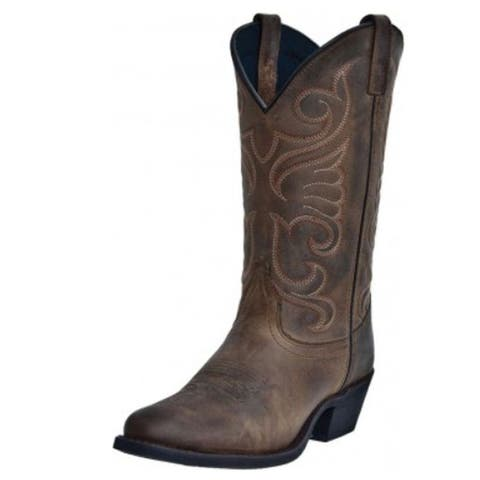 Laredo Western Boot Women Bridget Stitched Cowboy Distressed Tan - Distressed Tan