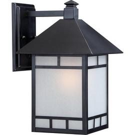 "Nuvo Lighting 60/5702 Drexel ES 9"" Width 1 Light Energy Star Outdoor Lantern Wall Sconce - stone black"