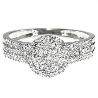 1/3cttw Diamond Bridal Promise Engagement Ring 10K White Gold 9mm Wide (0.33cttw) By MidwestJewellery