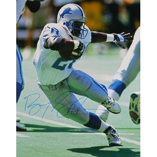 Barry Sanders Signed Detroit Lions Cut Action 16x20 Photo