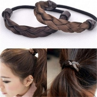 Women Girls Synthetic Hair Plaited Plait Elastic Headband Hairband Braided Band Hair Accessories
