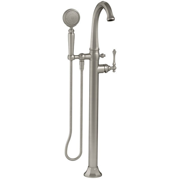 Kohler K-T97332-4 Kelston Floor-Mount Tub Filler with Hand Shower and MasterClean Technology - Less Mounting Block - n/a