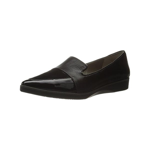 Tahari Womens Smoking Loafers Suede Pointed Toe