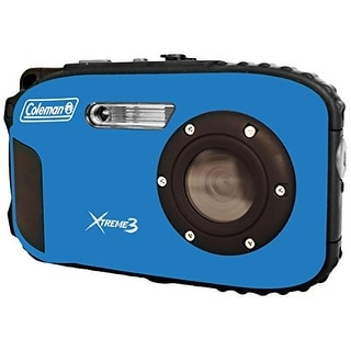 Coleman Cable ELBC9WPBLB Coleman C9WP-BL Xtreme3 20 MP Waterproof Digital Camera with Full 1080p HD Video