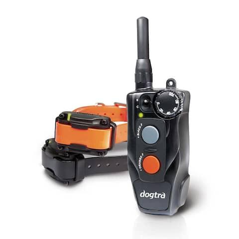 AM Compact 1/2 Mile Remote Dog Trainer 2 Dog System - 1 black and 1 orange collar strap