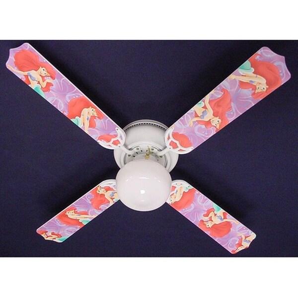 Disney's Purple Ariel Print Blades 42in Ceiling Fan Light Kit - Multi