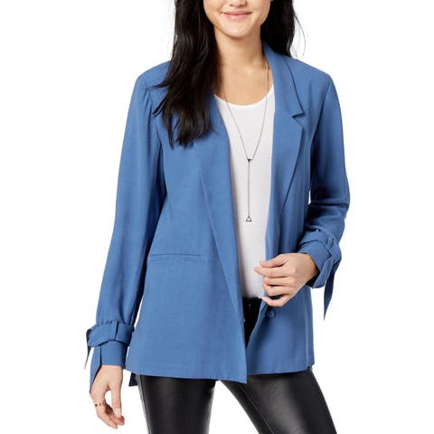 1.State Womens One-Button Blazer Tie Sleeves Notch Collar
