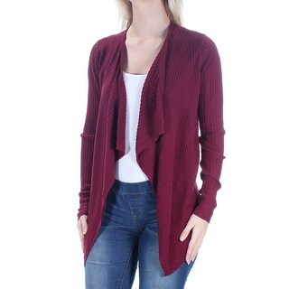 CLOUD CHASER Womens New 1042 Maroon Pleated Long Sleeve Sweater S Juniors B+B