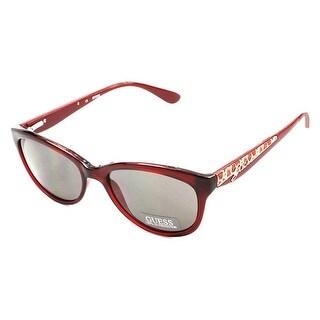 Guess GU 7209 BU-3 Cateye Burgundy Milky Red Sunglasses Womens