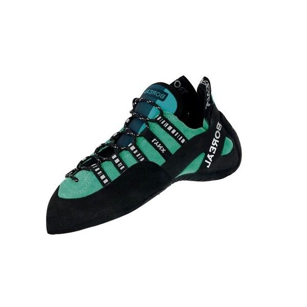 Boreal Climbing Shoes Womens Lightweight Lynx Leather Black Aqua