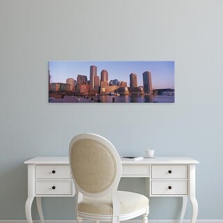 Easy Art Prints Panoramic Images's 'Morning, Boston, Massachusetts, USA' Premium Canvas Art
