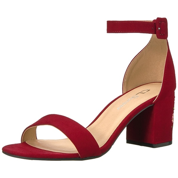 CL by Chinese Laundry Women  x27 s Jayline Embroidered Dress Sandal - red  super c60fa5a436bd