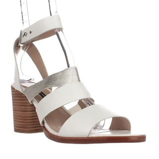 French Connection Ciara Strappy Sandals, Summer White/Silver