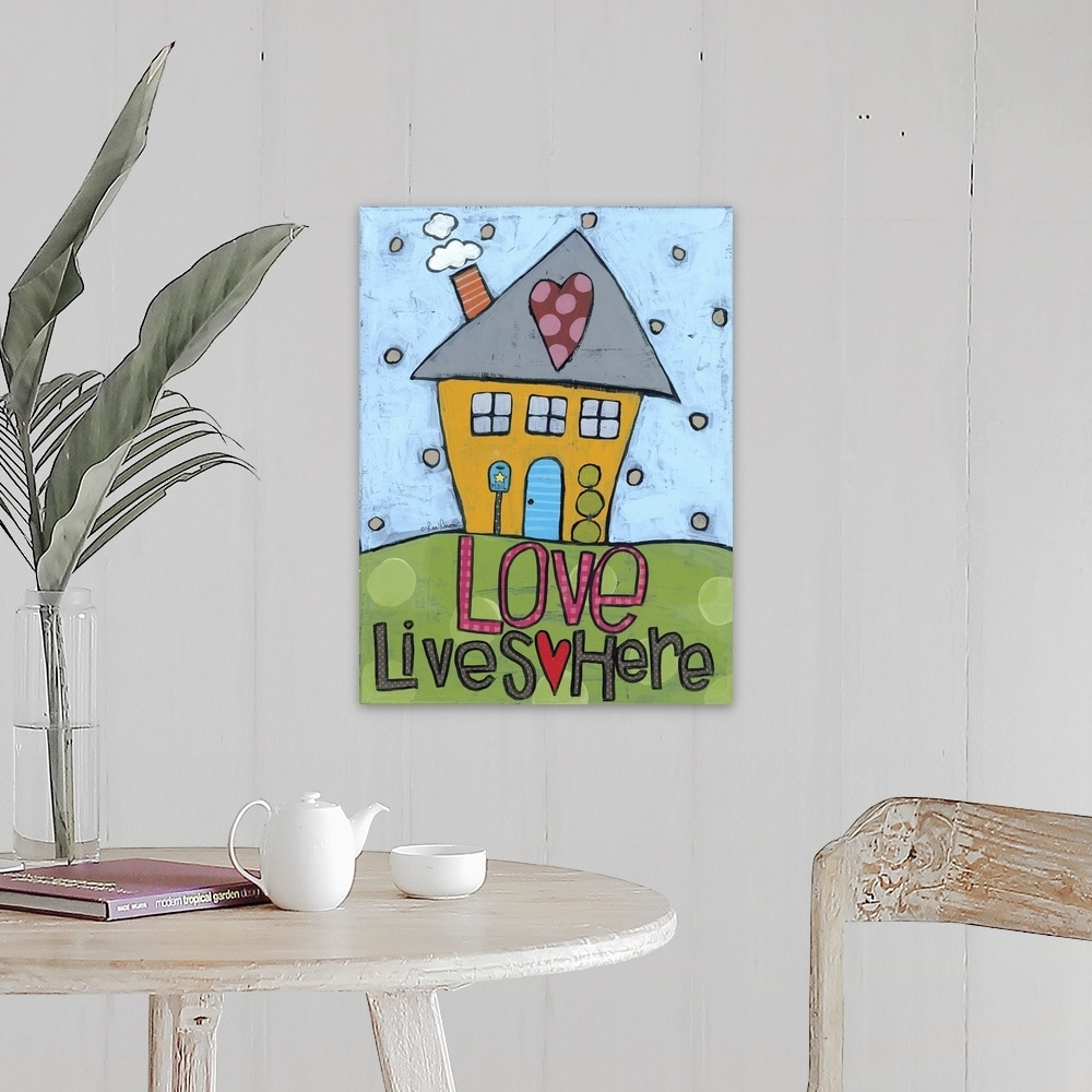 Love Lives Here Canvas Wall Art Overstock 25498331