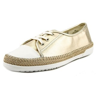 Anne Klein Zachery Women Canvas Gold Fashion Sneakers