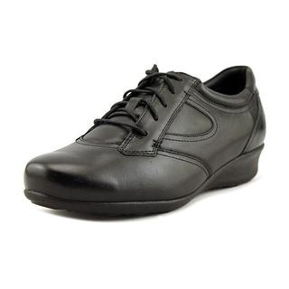 Drew Prague Women  Round Toe Leather Black Sneakers