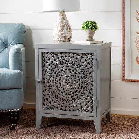 Safavieh Thea Single Door Carved Nightstand