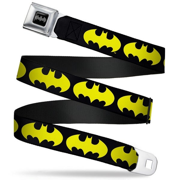 Batman Full Color Black Fluorescent Yellow Bat Signal 1 Black Fluorescent Seatbelt Belt