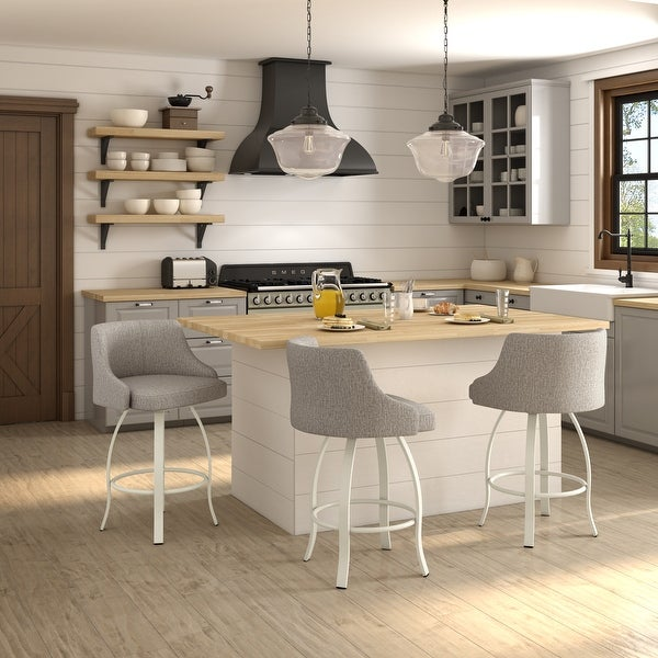 Amisco Crofton Swivel Counter and Bar Stool. Opens flyout.