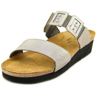 Naot Ashely Open Toe Canvas Slides Sandal