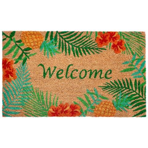 "Liora Manne Island Greetings Coir Welcome Door Mat (1'6"" x 2'6)"