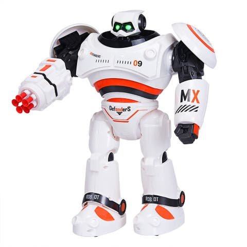 Remote Control Programmable Intelligent Combat Fighting Robot - Orange