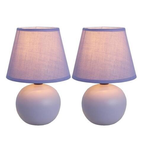 Simple Designs Ceramic Mini Globe Table Lamps (Set of 2)