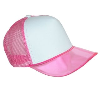 CTM® Translucent Color Brim Baseball Cap with Mesh Back (3 options available)