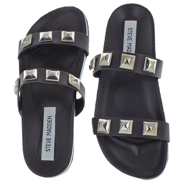 steve madden white studded sandals