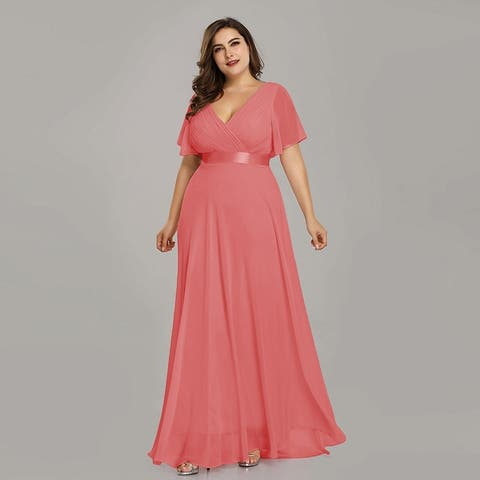 Ever-Pretty Womens Plus Size Chiffon Long Mother of the Bride Evening Party Dress 98902