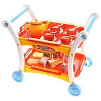 Afternoon Tea Time Trolley Cart Pretend Play Set for Tea Party