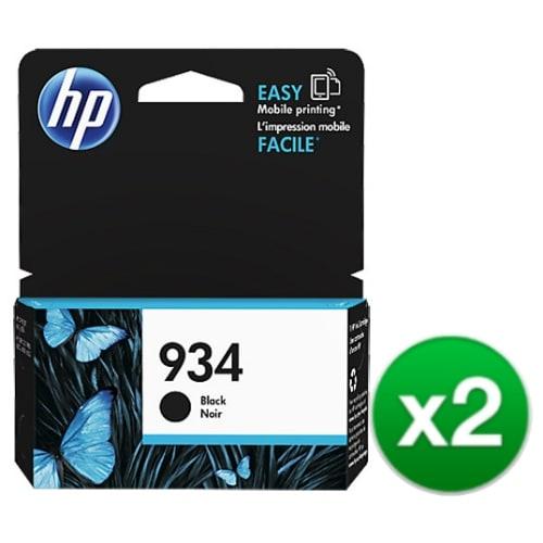 HP 934 Black Original Ink Cartridge (C2P19AN) (2-Pack)