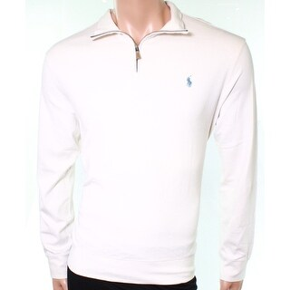 Polo Ralph Lauren NEW White Ivory Mens Size 2XL 1/2 Zip Pullover Sweater