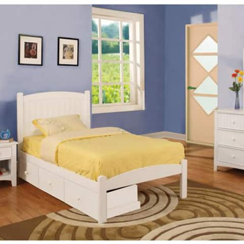 Furniture of America Thea Traditional White Twin 2-piece Bed Set